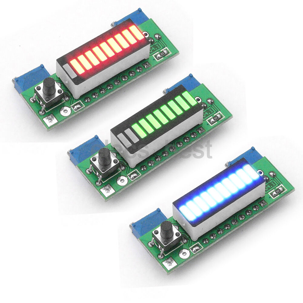 Battery Capacity Power Level Led Indicator Lm3914 Diy For Li Ion 1 Of 3 See More