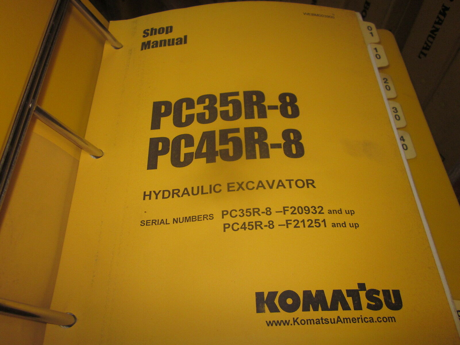 Komatsu PC35R-8 PC45R-8 Hydraulic Excavator Service Repair Manual 1 of  2Only 1 available ...