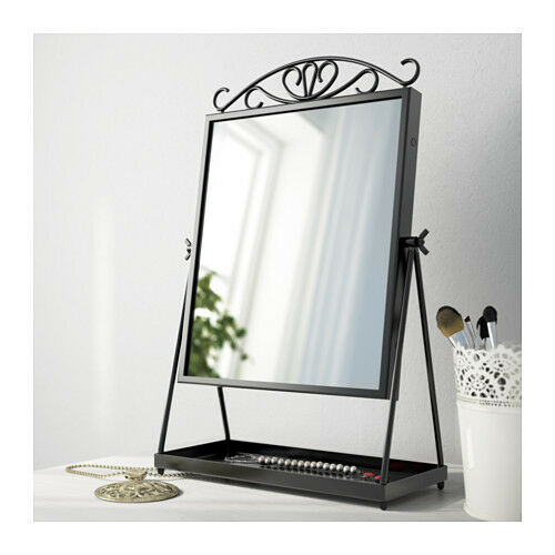 Ikea karmsund table vanity mirror black for Mirrors ikea usa