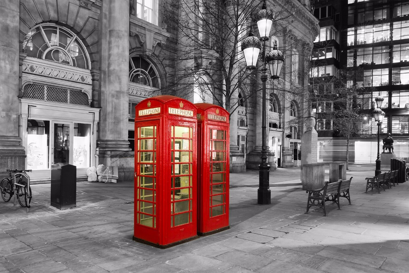London City Red Telephone Booth Wall Mural Photo Wallpaper Giant Decor 1 Of 6 See More
