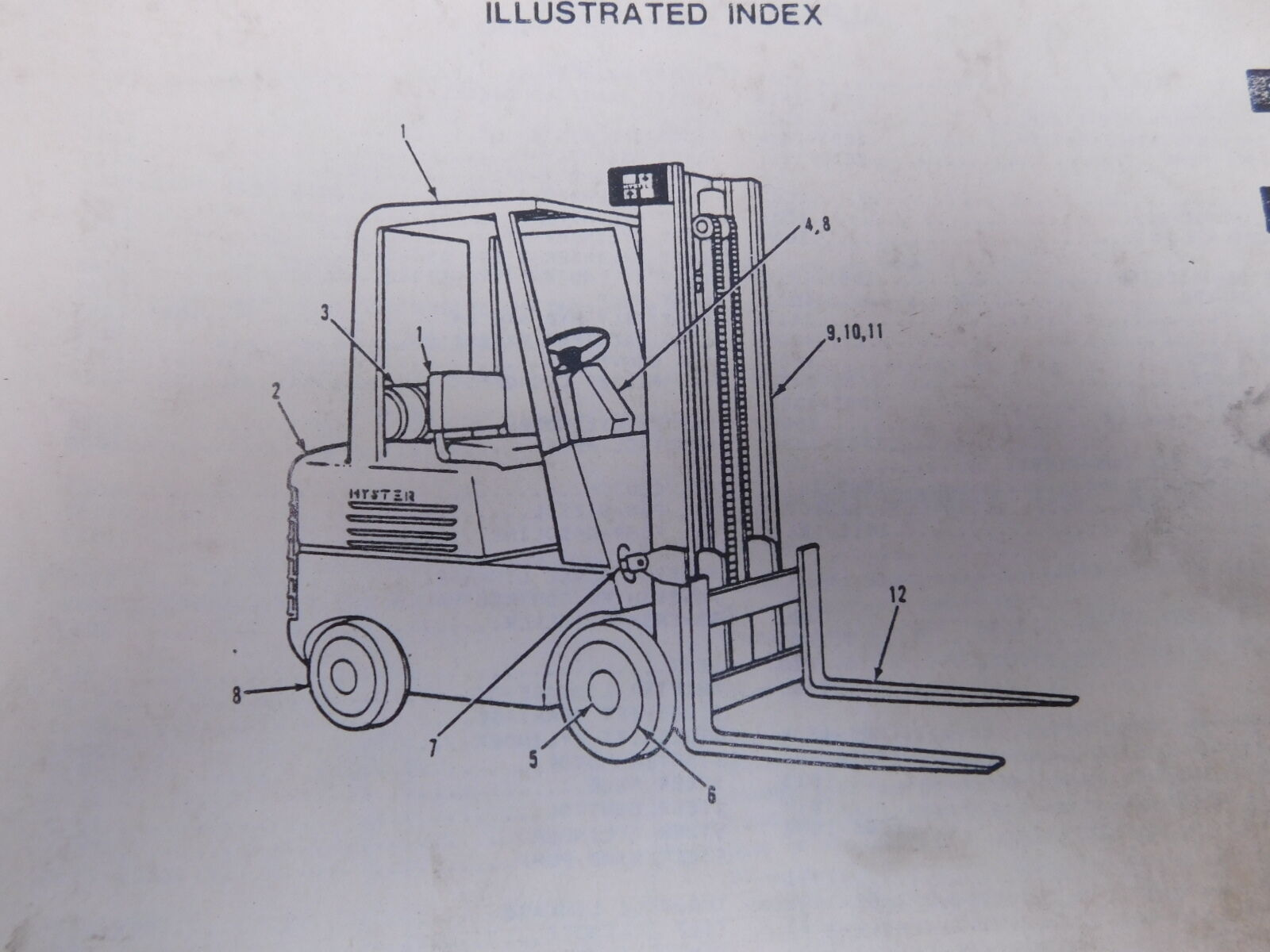 Hyster Spacesaver S60 70 80 100e Forklift Parts Service Repair 30 Wiring Diagram 1 Of 1only Available