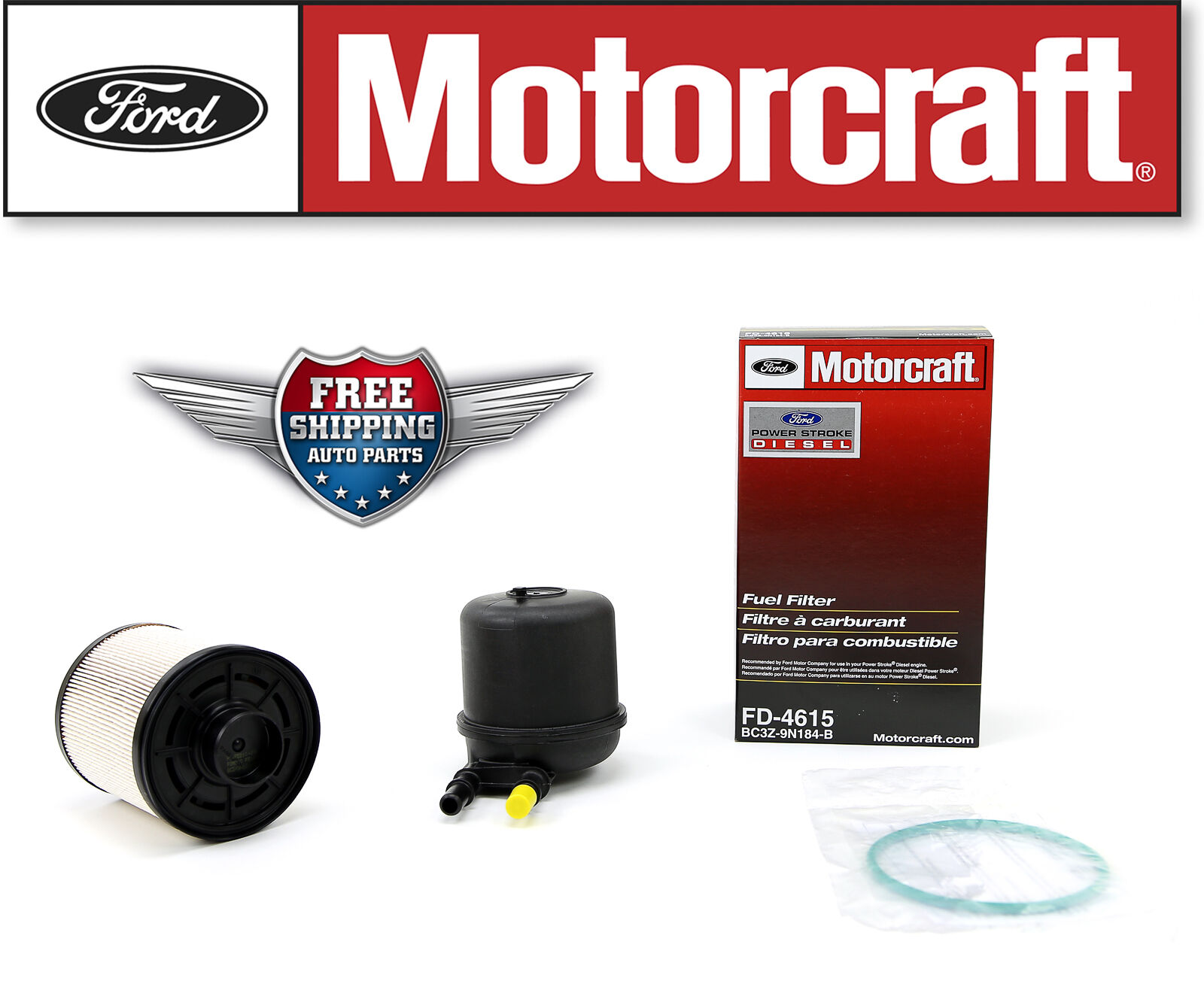 Motorcraft Fuel Filter Fd4615 2011 2013 Ford F250 F350 F450 F550 67 Housing 1 Of 3only Available