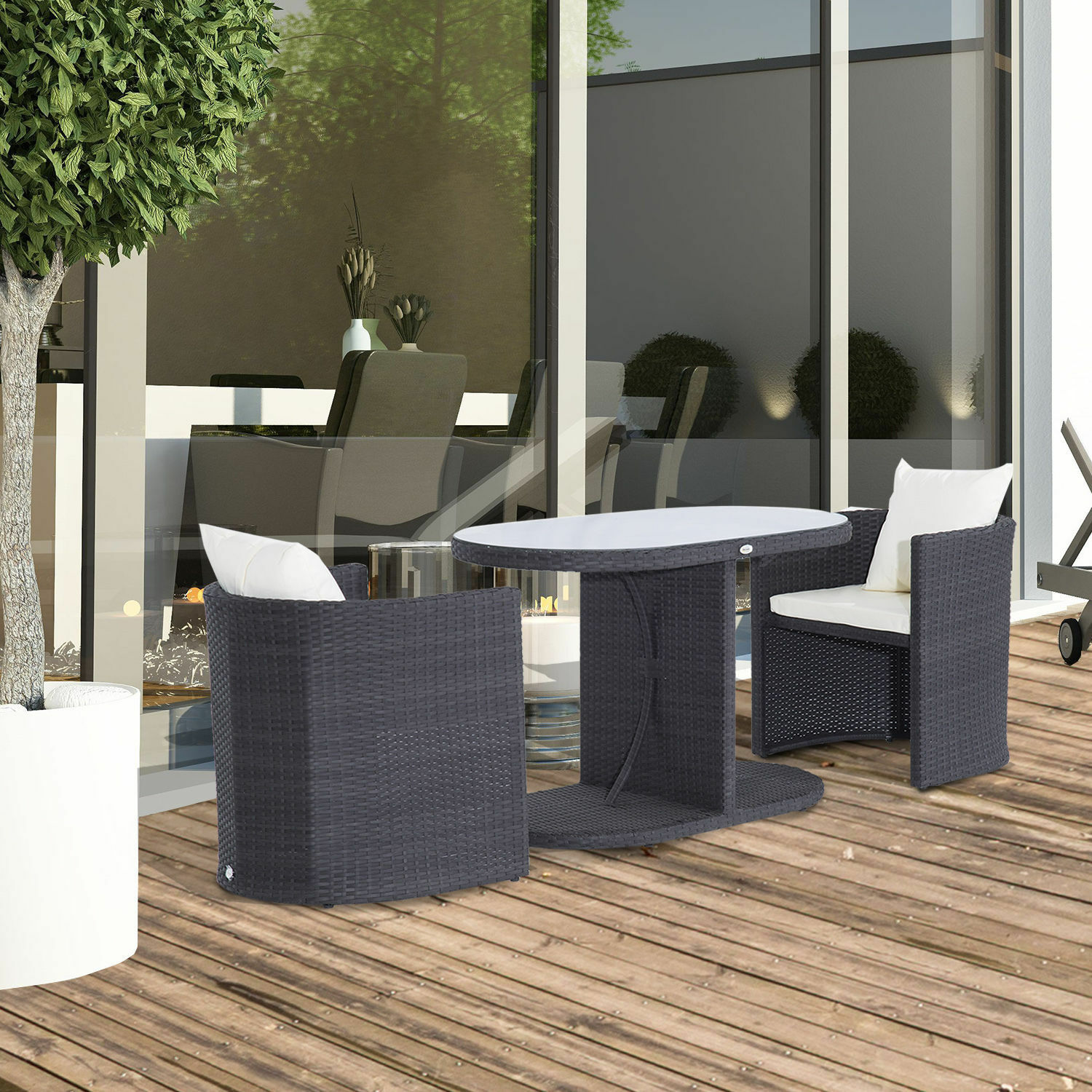 gartenm bel 7 tlg polyrattan gartenset balkonm bel sitzgruppe zusammenstellbar eur 279 95. Black Bedroom Furniture Sets. Home Design Ideas