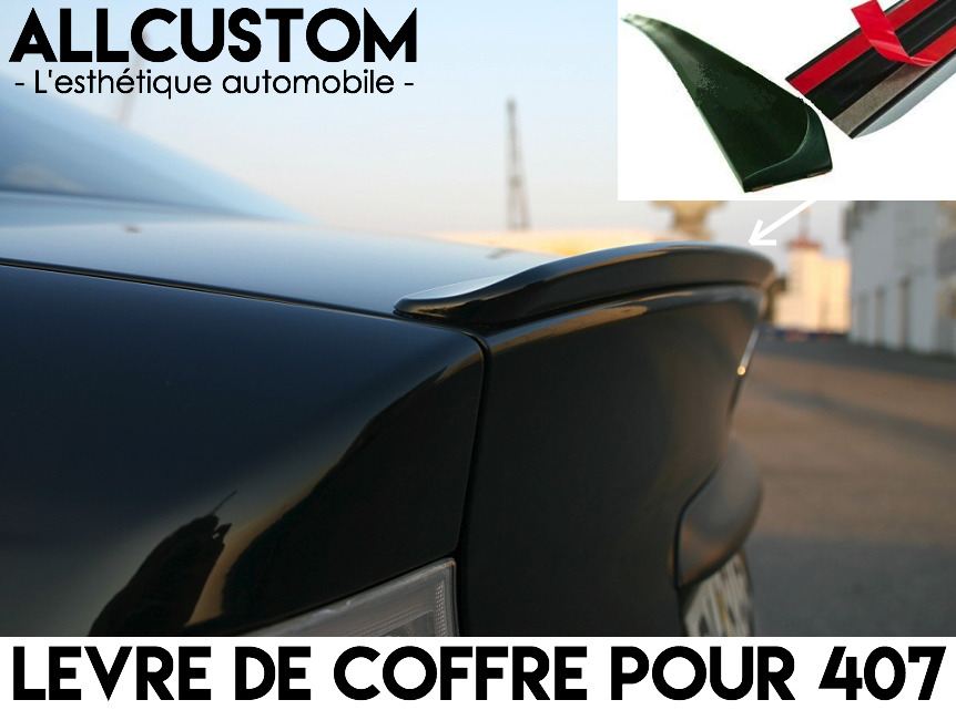 spoiler becquet levre lame aileron coffre pour peugeot 407 coupe 2005 11 hdi v6 eur 24 99. Black Bedroom Furniture Sets. Home Design Ideas