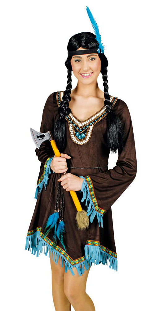 indianer kost m f r damen braun squaw apache indianerin. Black Bedroom Furniture Sets. Home Design Ideas