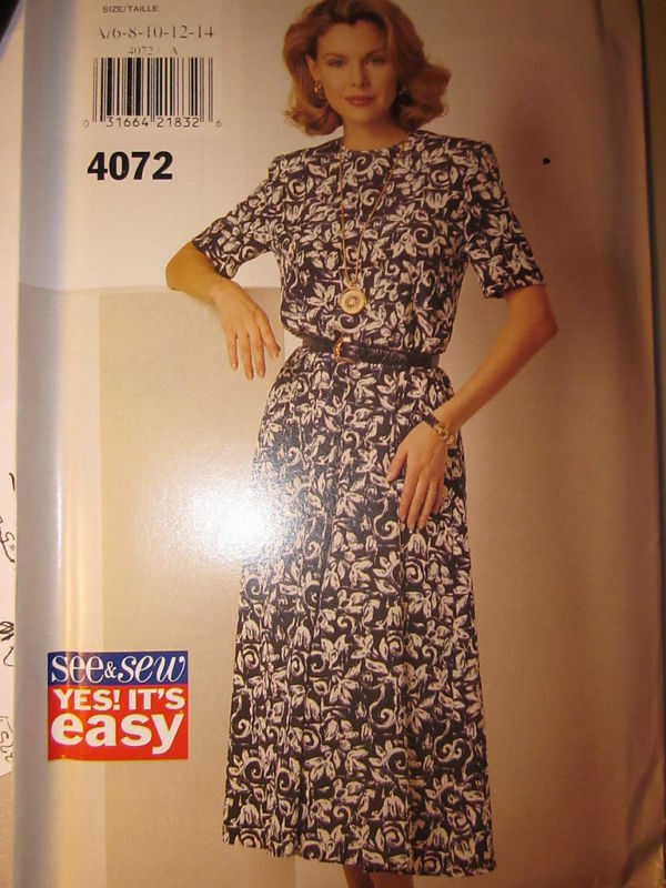 4072 Vintage Butterick Sewing Pattern Yes Its Easy Misses Dress