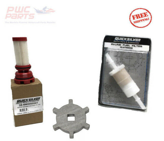 MERCURY Verado Fuel Filter In-Line Kit Tool Quicksilver 8M0060041 879885Q  896661 1 of 1Only 3 available ...