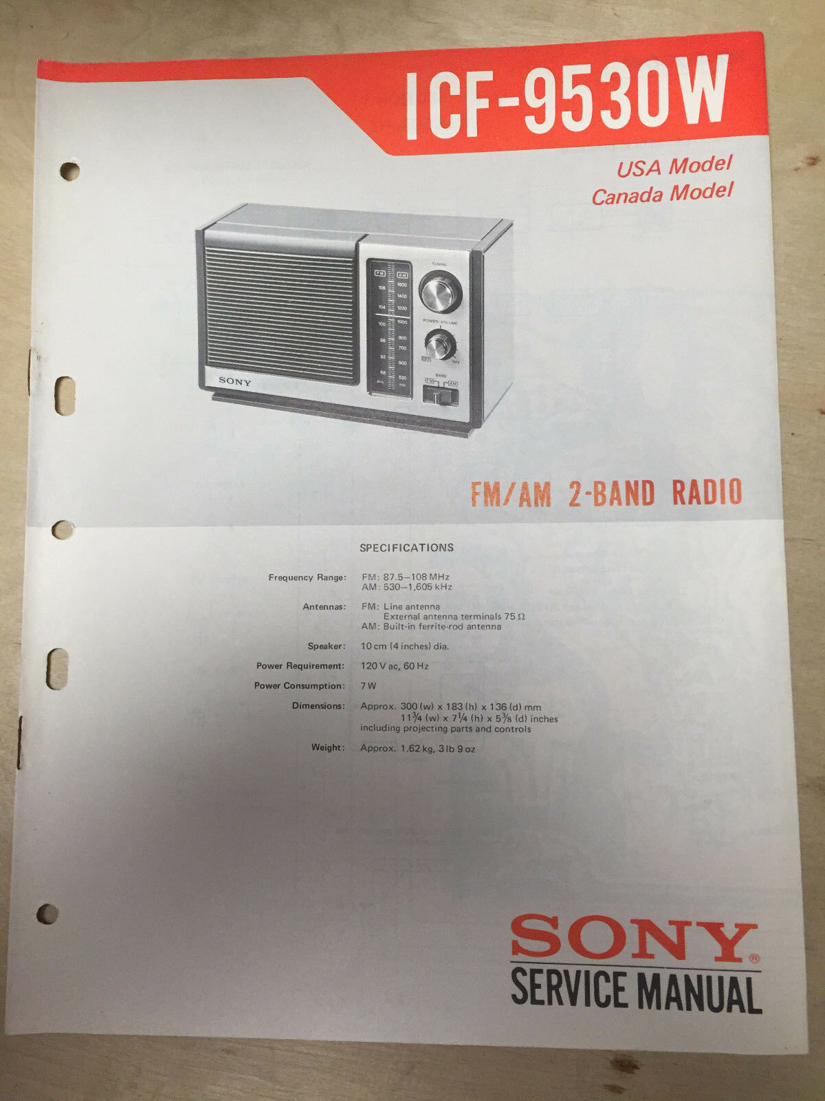 sony service manual for the icf 9530w receiver radio repair rh picclick com Toshiba Laptop Repair Manual Toshiba TV Service Manual