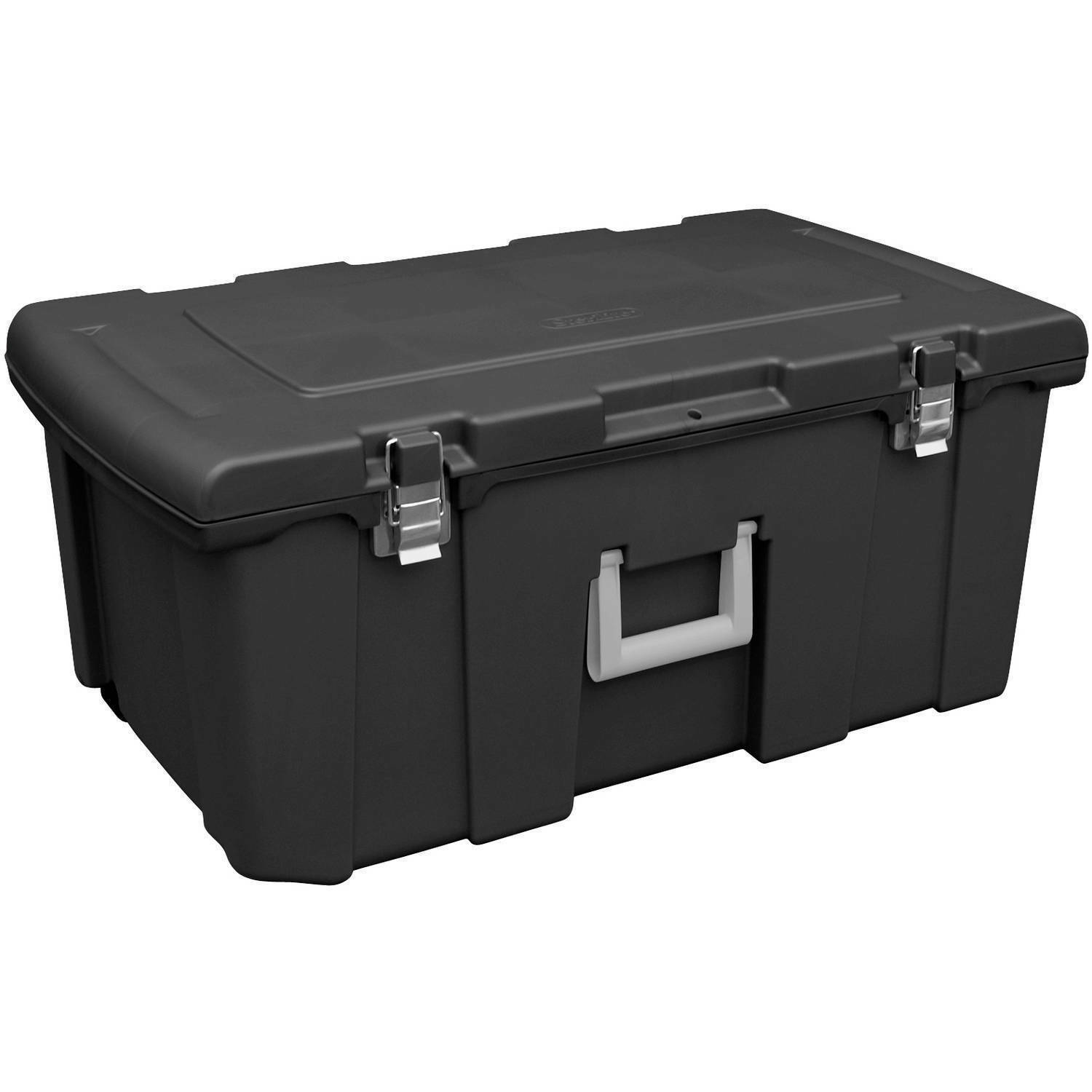 Exceptionnel 1 Of 7Only 1 Available Large Plastic Storage Box Containers Organizer  Wheeled Trunk Chest Footlocker