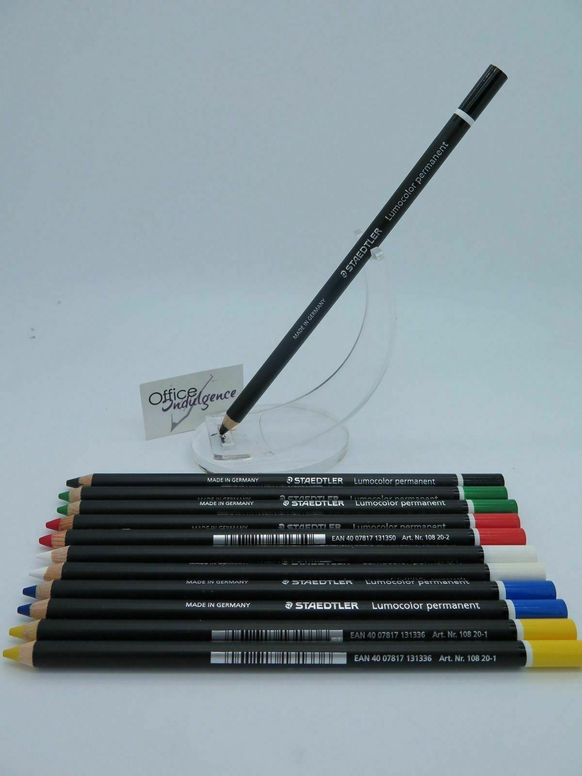 Staedtler Glasochrom Chinagraph Lumo Pencil - 6 Colours  1 to 12