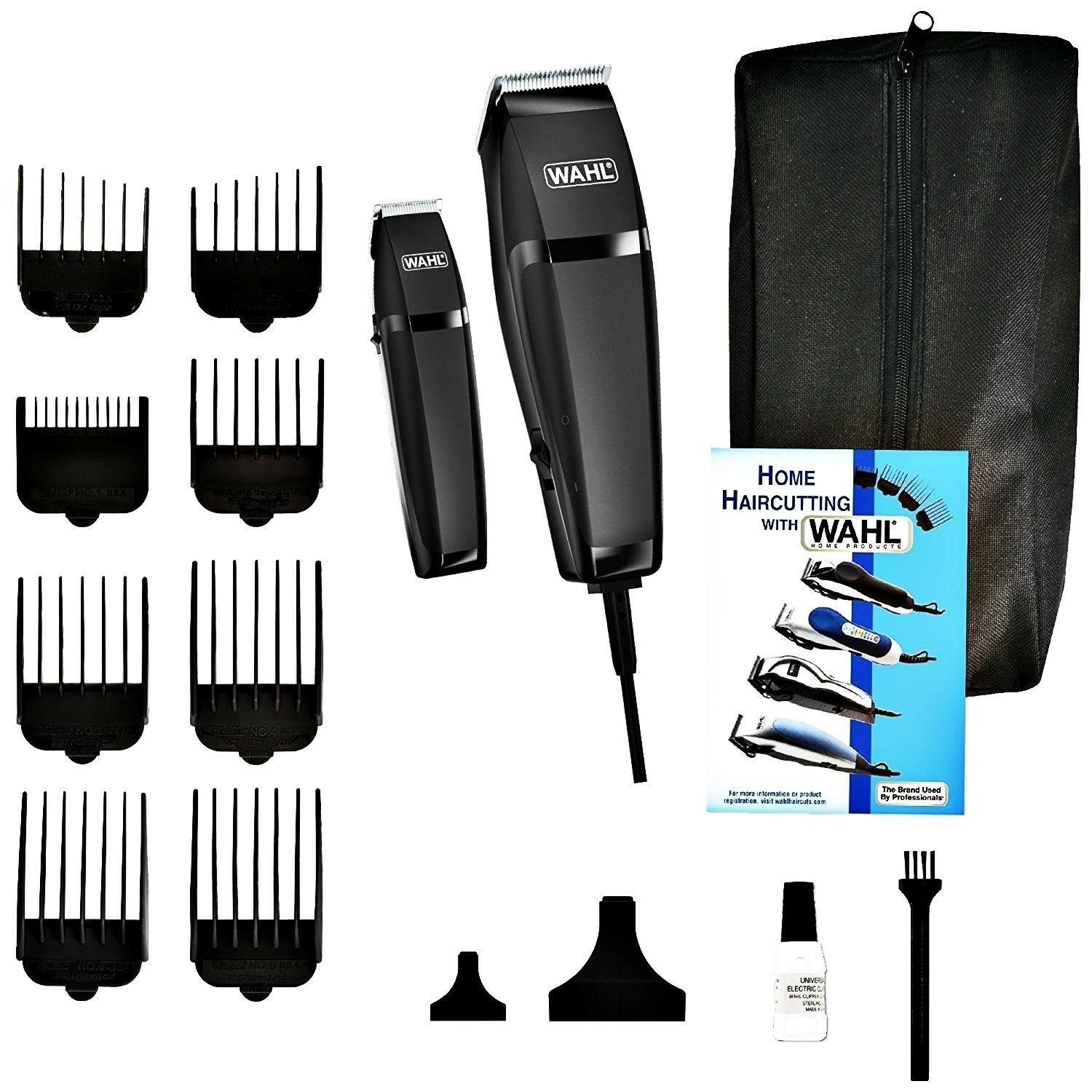Wahl Professional Barber Machine Hair Cutting Kit Clipper Haircut