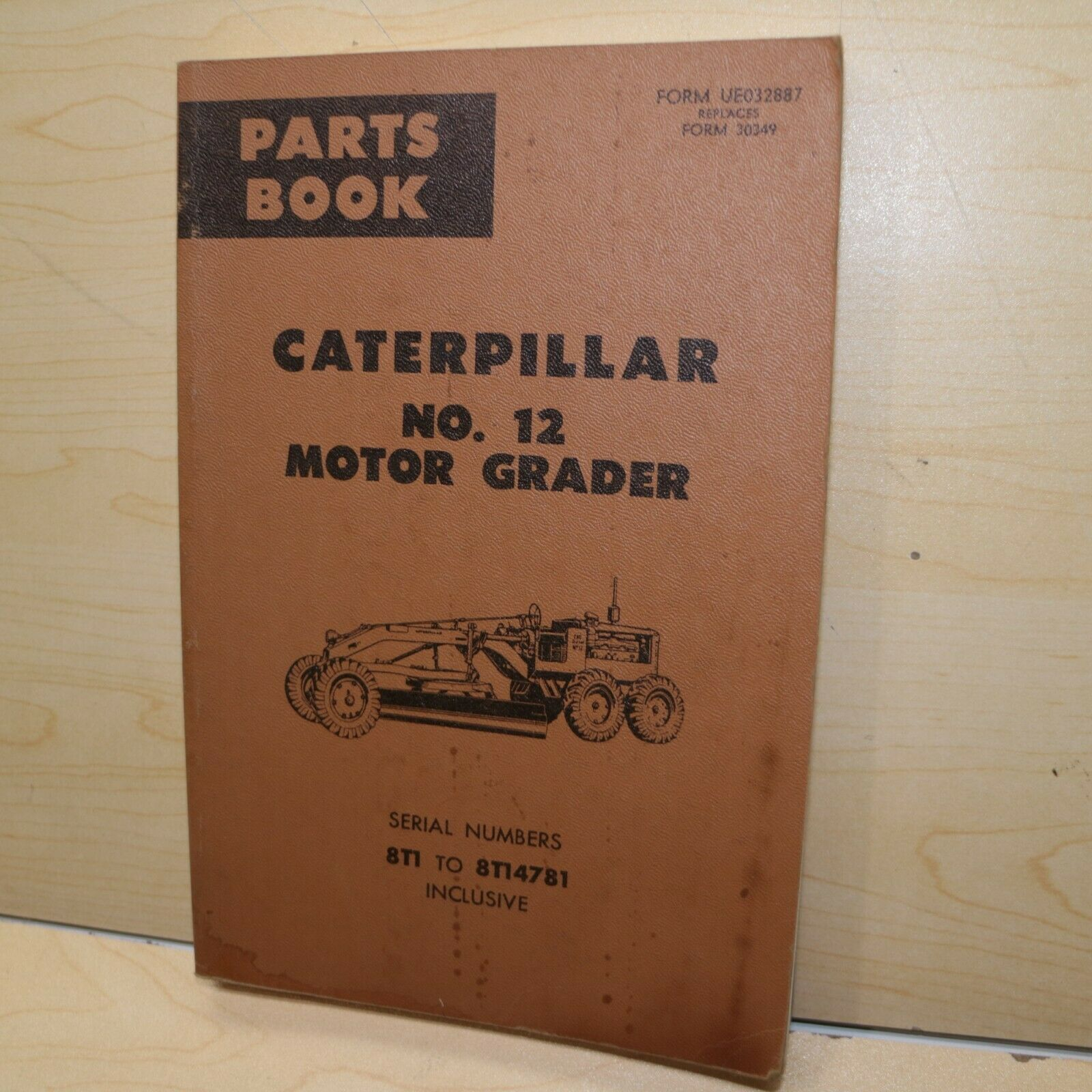 CAT Caterpillar 12 Motor Grader Parts Manual Book catalog List spare 8T  blade 1 of 1Only 1 available ...