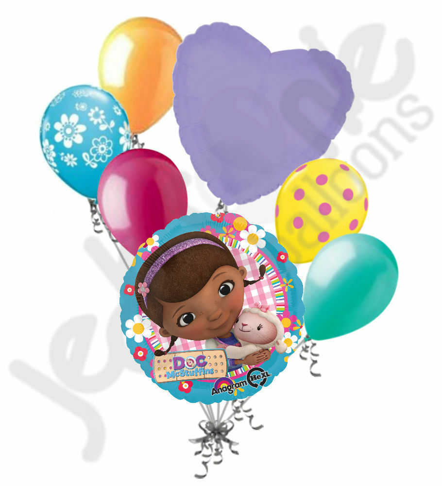 7 pc doc mcstuffins balloon bouquet party decoration for 7 star balloon decoration