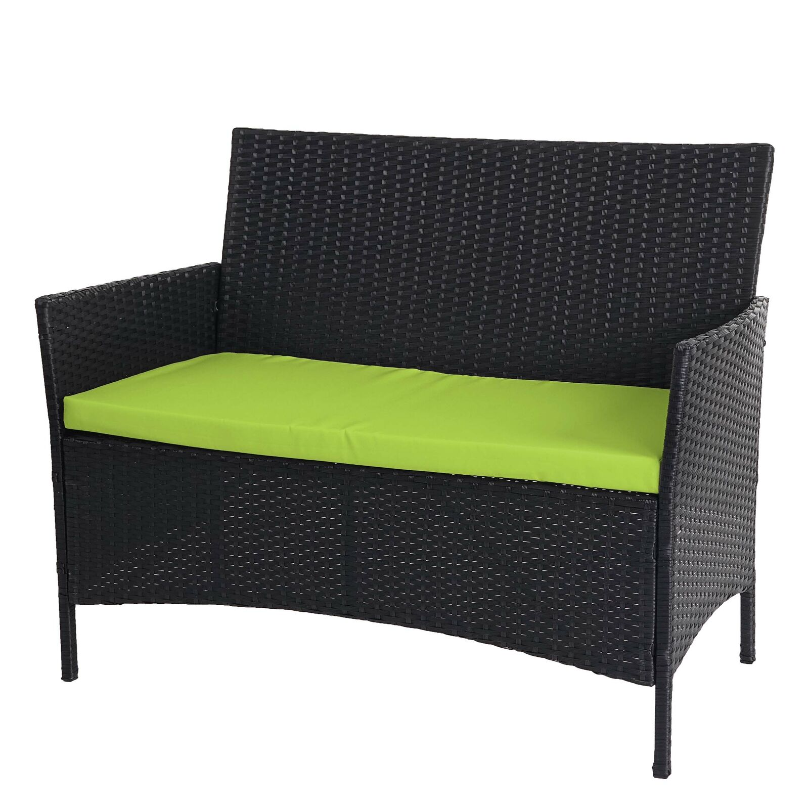 poly rattan gartenbank hamar sitzbank bank anthrazit kissen gr n eur 72 99 picclick it. Black Bedroom Furniture Sets. Home Design Ideas