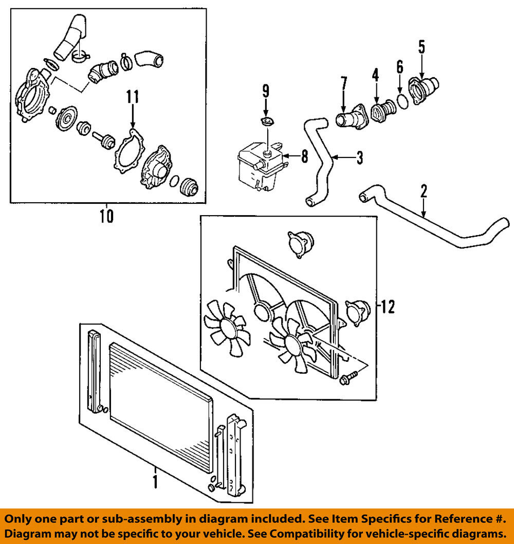 Ford Oem Engine Coolant Thermostat Housing 5f9z18599ba 1820 Diagram 1 Of 1only 2 Available