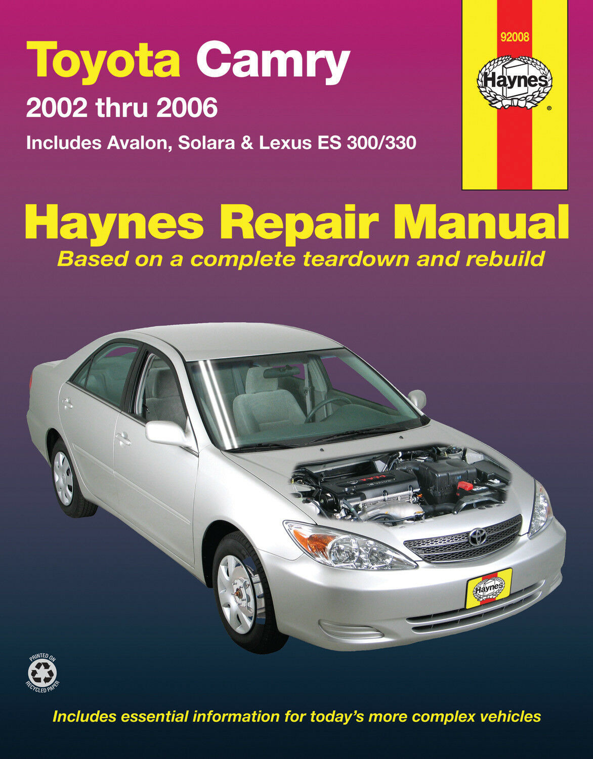 Haynes 92008 Repair Manual Toyota Camry 02 - 06 Includes Avalon & Lexus ES  02- 1 of 1FREE Shipping ...