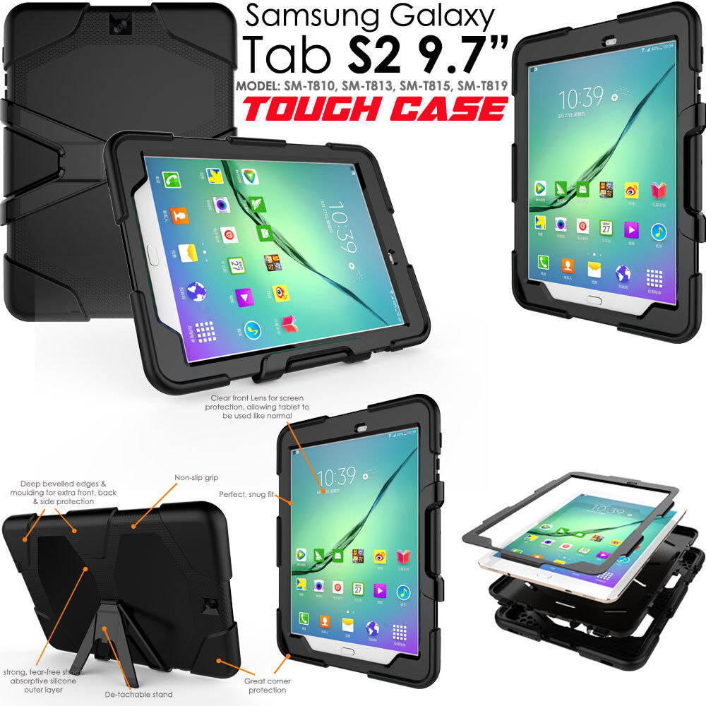 Samsung Galaxy Tab S2 97 T810 Tough Heavy Duty Shock Protective T819 Tablet 32gb 3gb 1 Of 7free Shipping