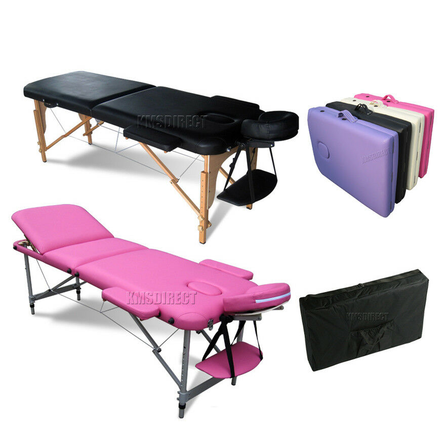 foxhunter portable folding massage table beauty salon