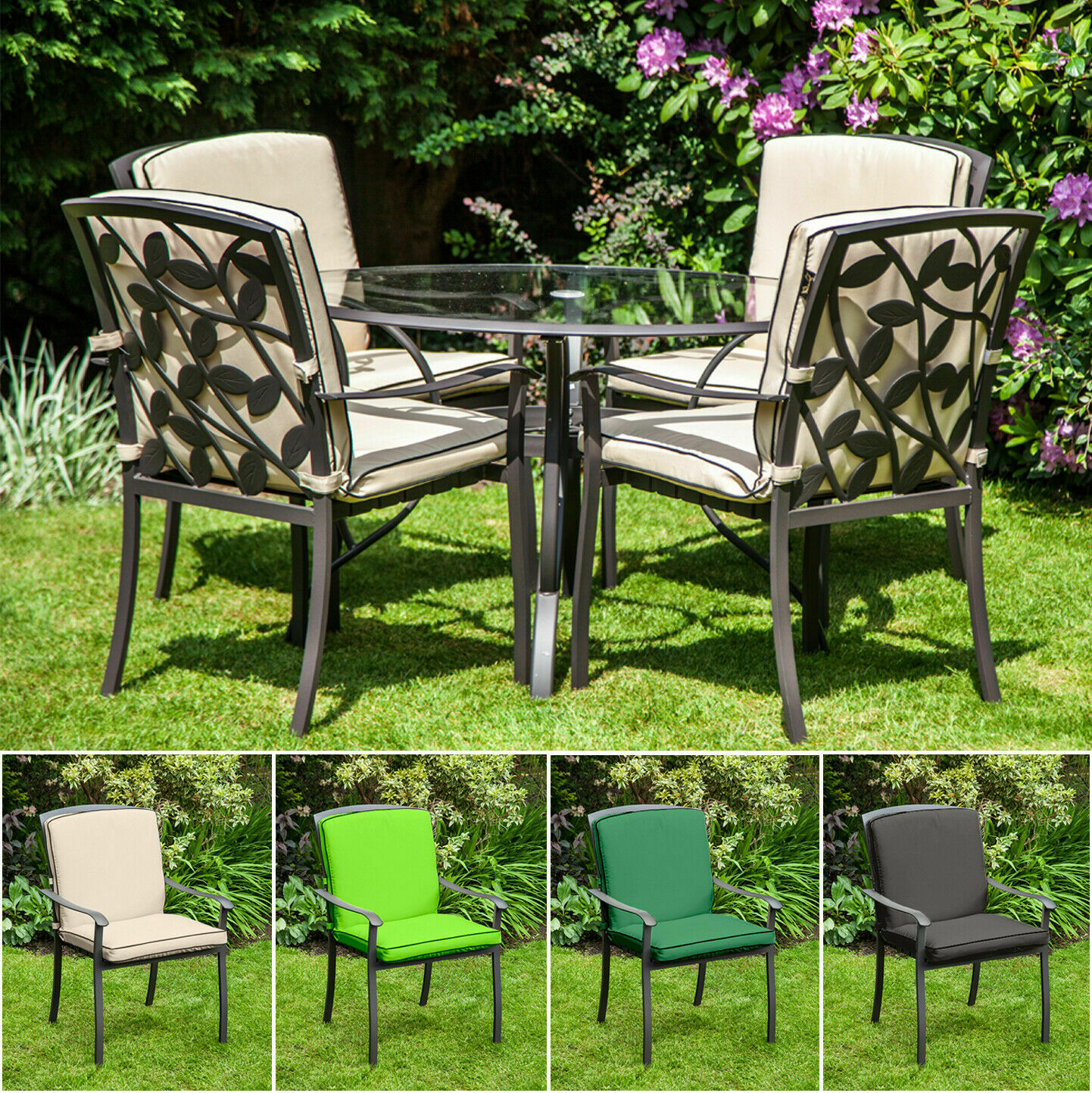 Replacement Cushion For Homebase Lucca Metal Garden Patio Dining