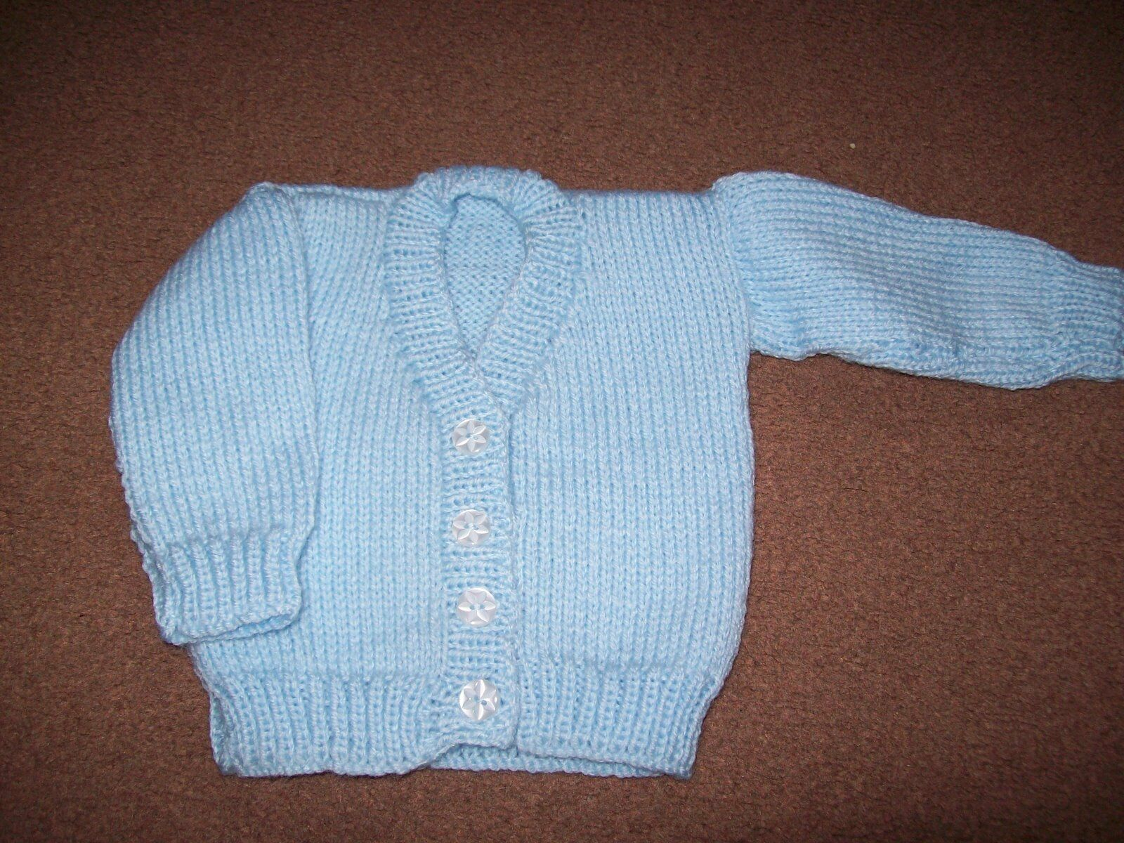 Knitting Pattern Cardigan For 18 Months : Babies Hand Knitted Blue Cardigan Age 0/3 Months   ?2.00 - PicClick UK