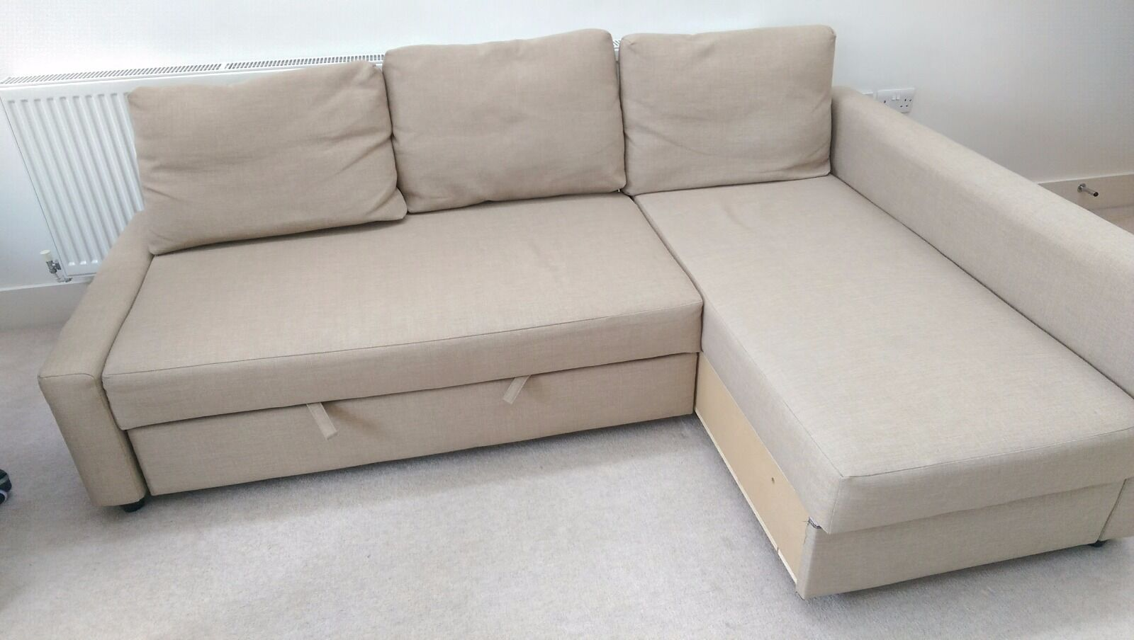 Ikea friheten corner sofa bed with storage for Ikea sofa set