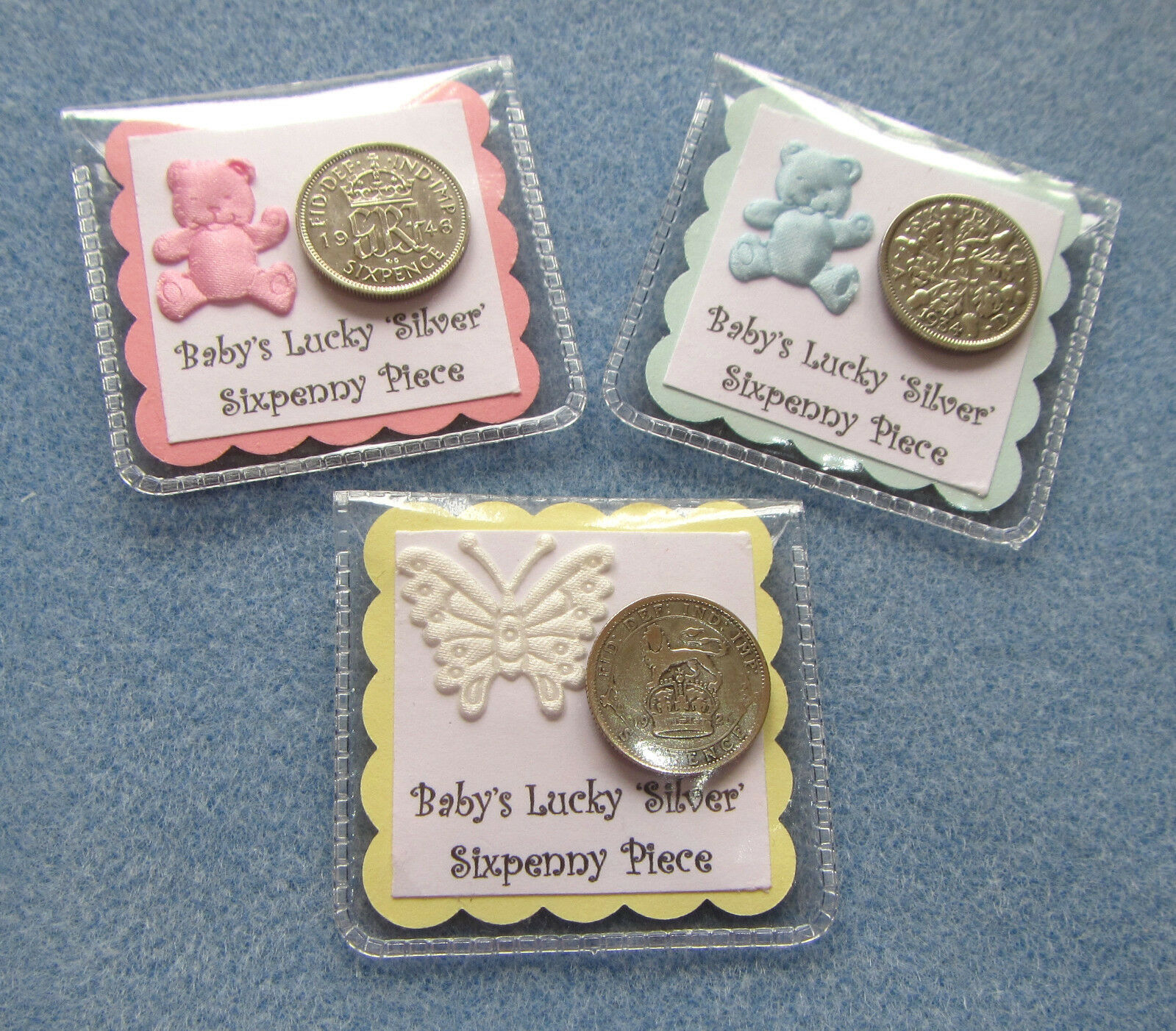 Neutral Baby Gifts Ireland : Lucky silver sixpence gift new baby shower