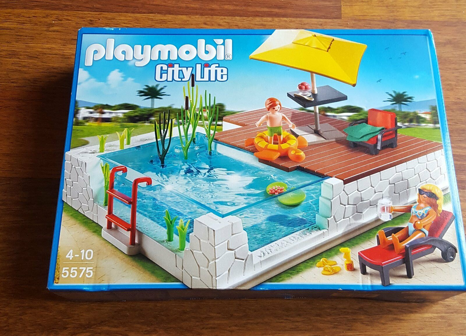 playmobil 5575 einbau swimmingpool f r die luxusvilla neu. Black Bedroom Furniture Sets. Home Design Ideas