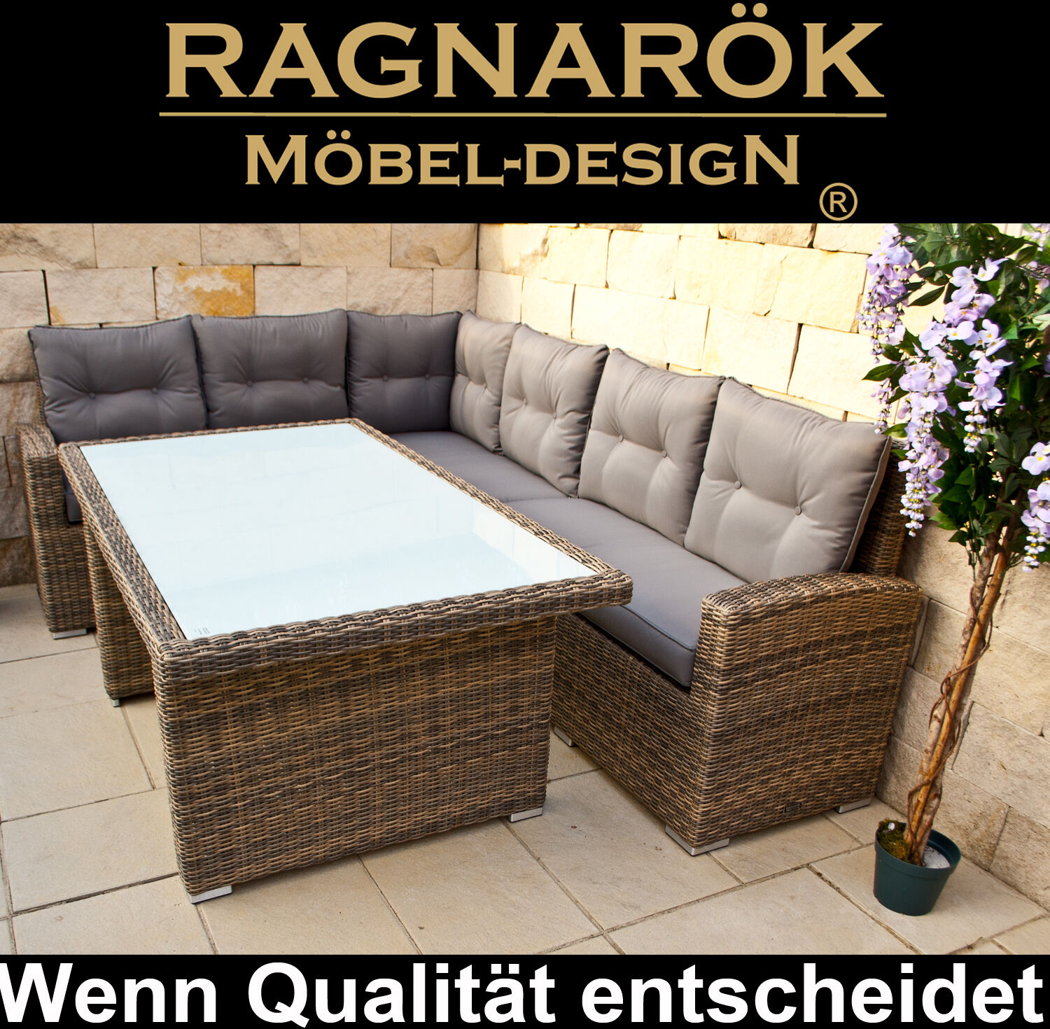 poly rattan gartenm bel hohe dinning lounge ragnar k m beldesign esstisch set eur 699 00. Black Bedroom Furniture Sets. Home Design Ideas