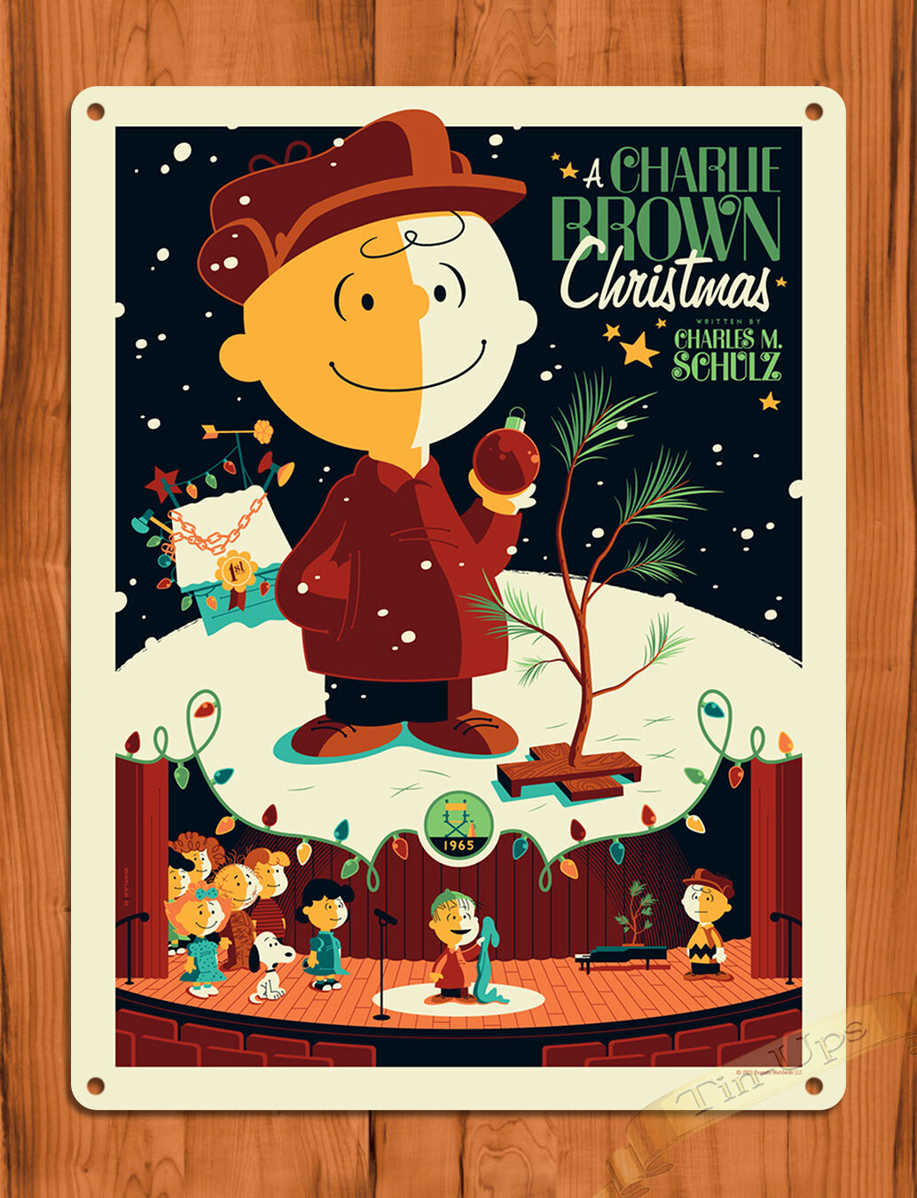 tin sign a charlie brown christmas brown art painting movie poster peanuts 1 of 1only 2 available see more - Charlie Brown Christmas Movie