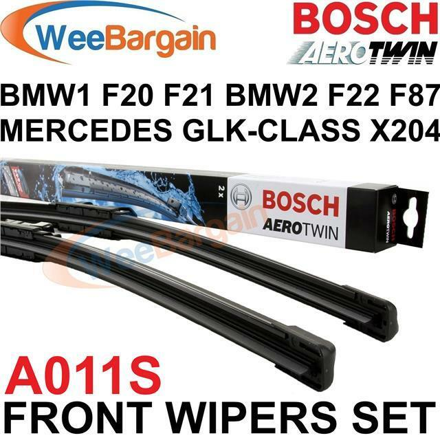 bmw 1 series f20 f21 2011 onwards bosch a011s aerotwin front wiper blades set. Black Bedroom Furniture Sets. Home Design Ideas