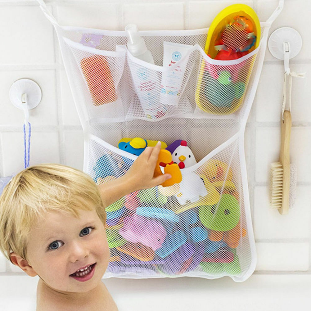 hot fashion baby bath bathtub toy mesh net storage bag organizer holder bathroom cad. Black Bedroom Furniture Sets. Home Design Ideas