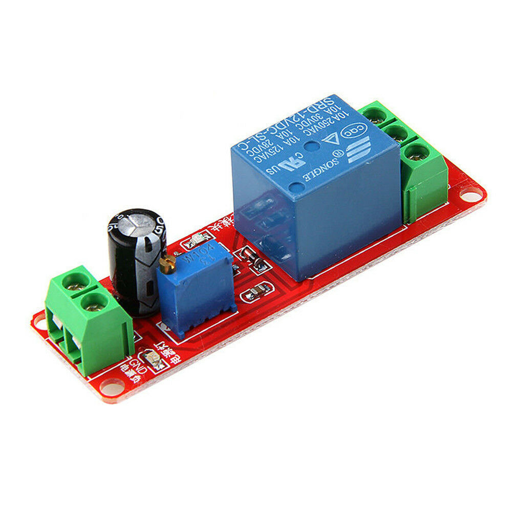New 12v Delay Adjustable Timer Relay Switch Module 0 10 Second Ne555 About Plain 95 X 128mm Srbp Electronic Prototype Matrix Circuit Board 1 Of 6free Shipping