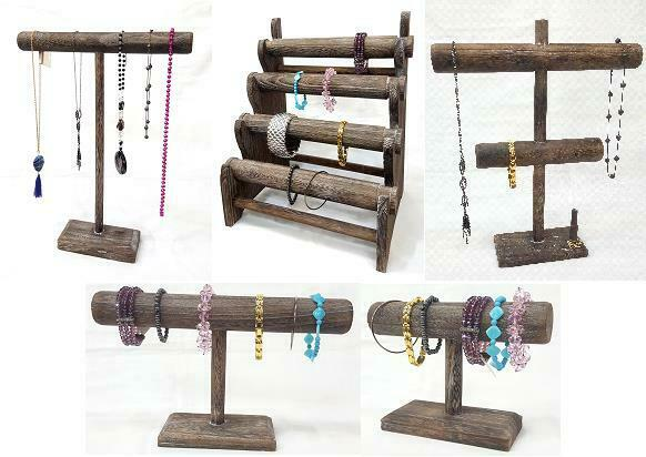 T BAR WOODEN Jewelry Display Stand Wooden Necklace Bracelet Inspiration Bracelets Display Stands