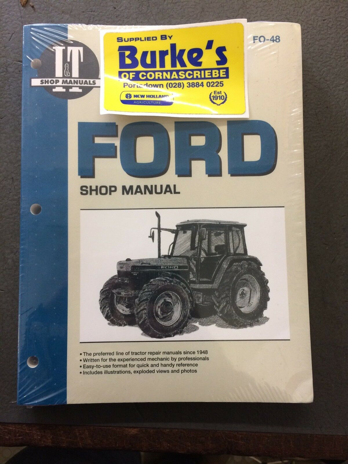 Ford New Holland Operators Manual 5640 6640 7740 7840 8240 8340 Wiring Diagram 1 Of 2only 5 Available