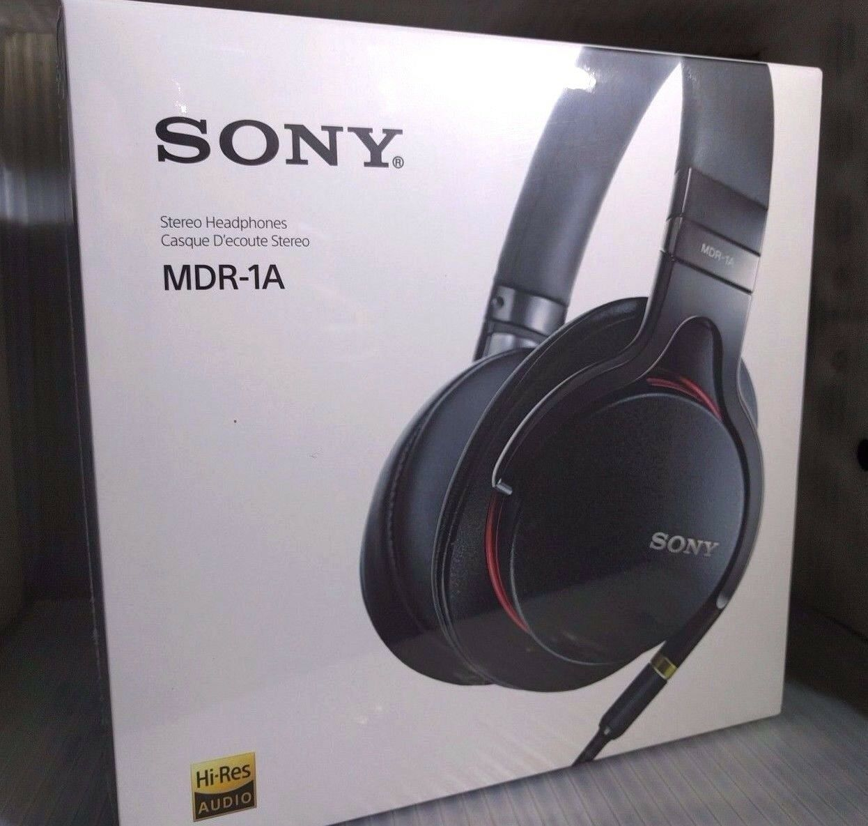 Sony Mdr 1a Premium Hi Res Stereo Over Ear Headphones Black New High Resolution 100aap Red 1 Of 2only Available