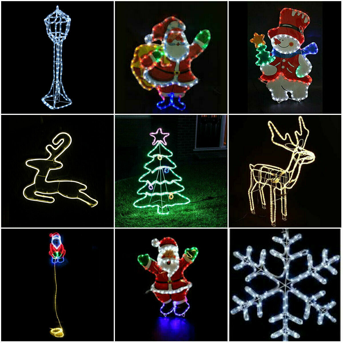 Large in outdoor christmas garden rope light xmas lights for Large outdoor christmas lights