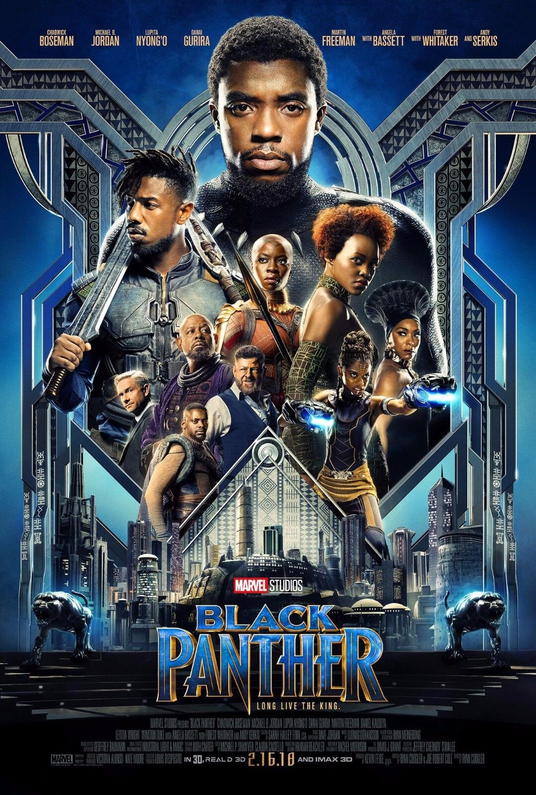 black panther movie poster 2018 13x20quot 27x40quot 32x48