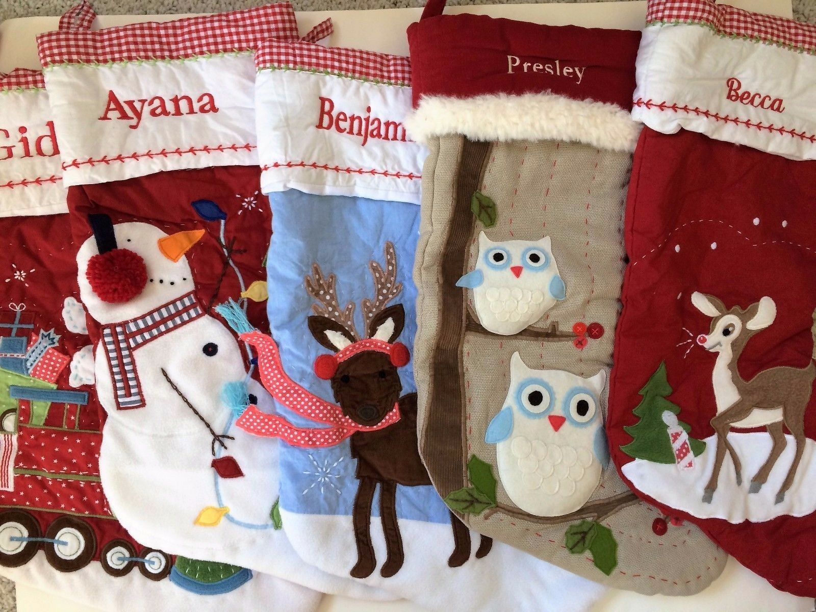 POTTERY BARN KIDS Christmas Stocking-with Embroidered Name-Lots of ...