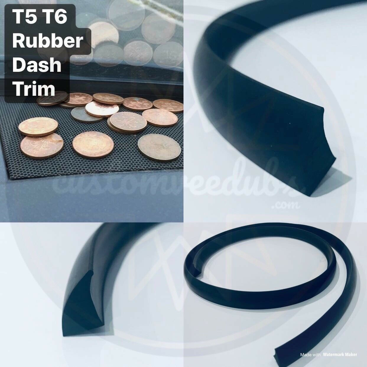 Vw transporter t5 t5 1 t6 rubber dash trim gap filler door for Door gap filler