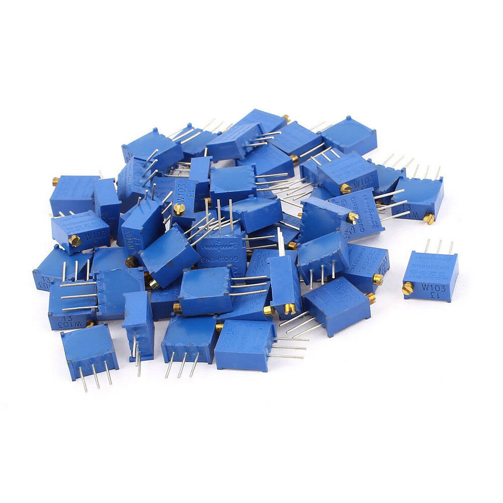 50pcs New 10k Ohm 3296w Trimpot Trimmer Potentiometer 3296 313 About Plain 95 X 128mm Srbp Electronic Prototype Matrix Circuit Board 1 Of 1only 5 Available