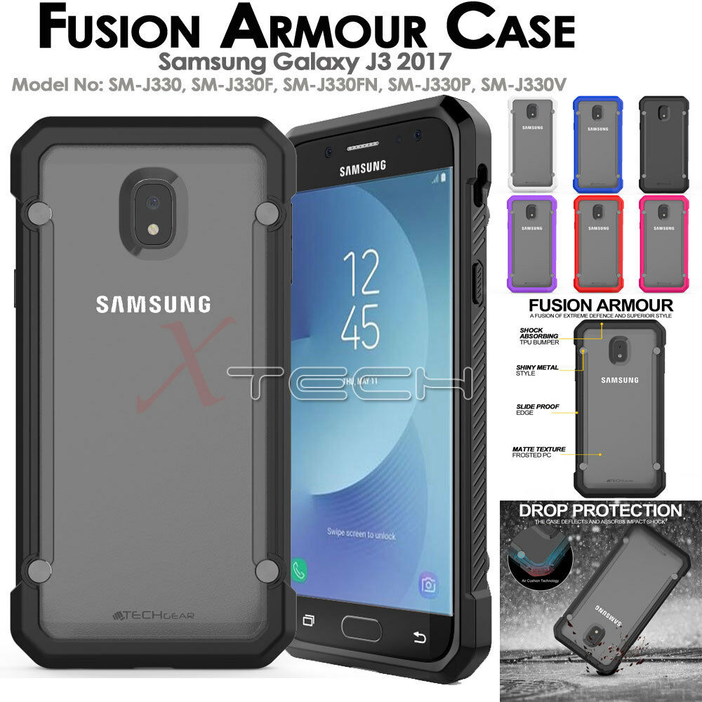 Samsung Galaxy J3 2017 Fusion Armour Premium Slim Hybrid Case For 2016 J320 Clear Gratis Tempered Glass Ultrathin Soft Protective Cover 1 Of 7free Shipping