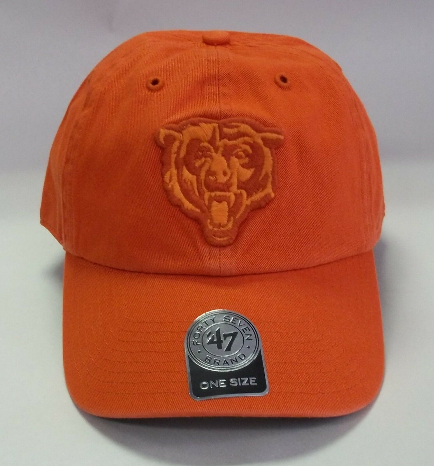faccacaff Chicago Bears 47 Brand Clean Up Hat Adjustable Cap Double Rush 1 of 2 ...