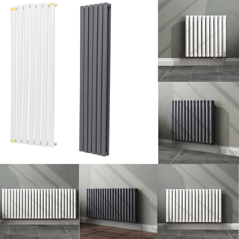 TRADITIONAL RADIATOR CENTRAL Heating Vertical Oval Flat Column Panel ...