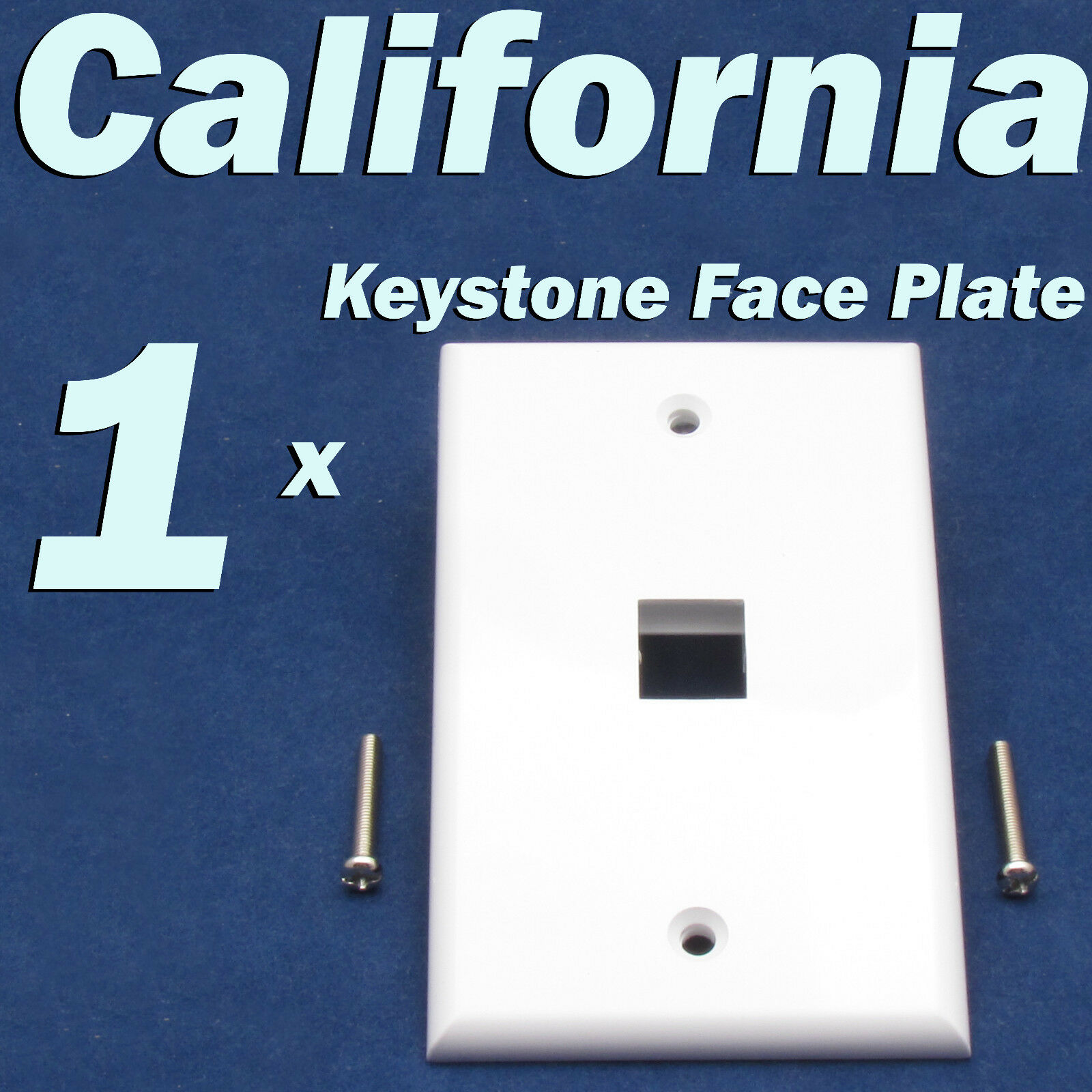 1 Port Keystone Jack Rj45 Cat5 Cat5e Cat6 Network Faceplate Wall Cat 5 Wiring Diagram Prise Plate White Of 9only Available