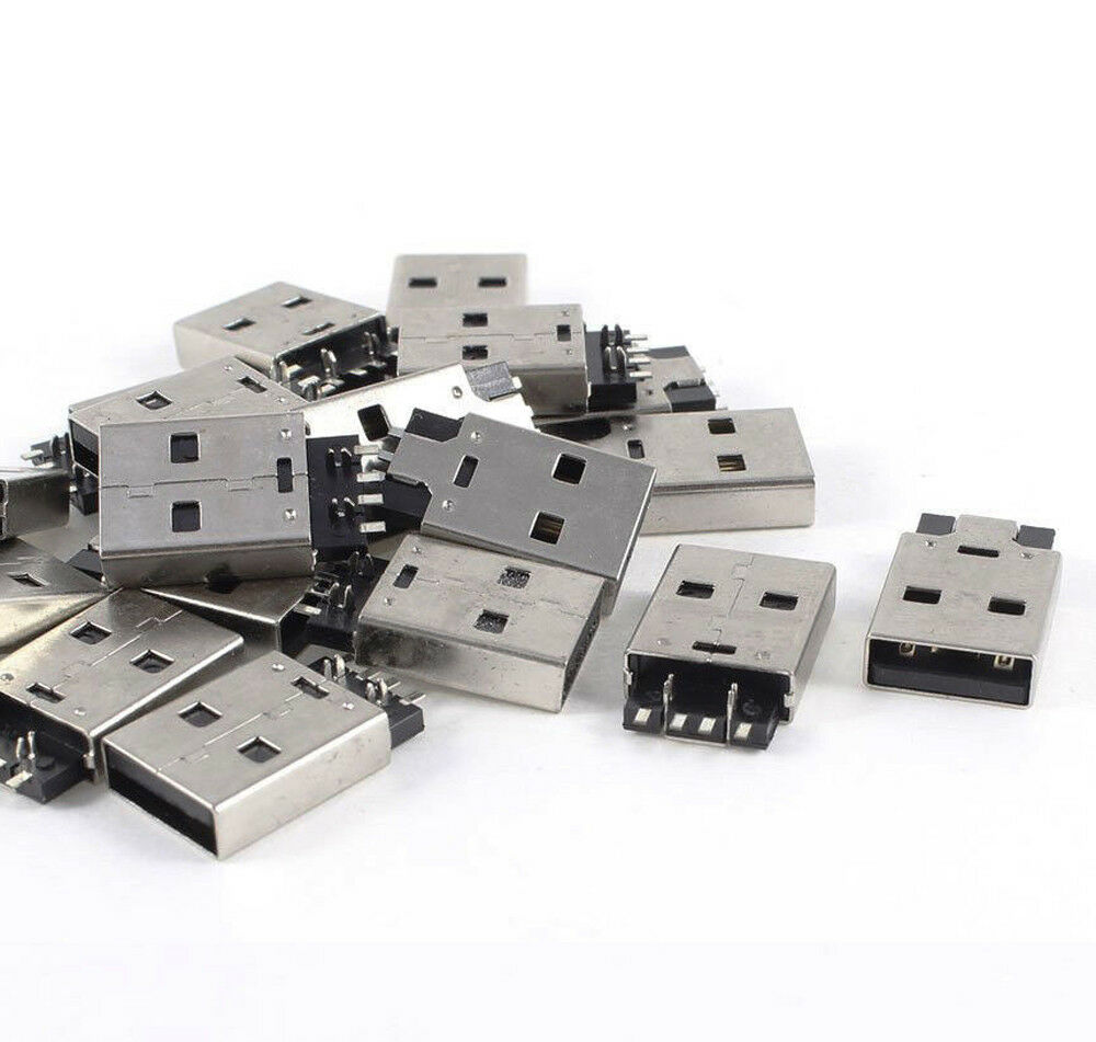 20pcs Usb 20 Male A Type Pcb Connector Plug 180 Degree Smt Smd Side 5x7cm Printed Circuit Vero Prototyping Track Strip Board Uk 1 Of 4free Shipping