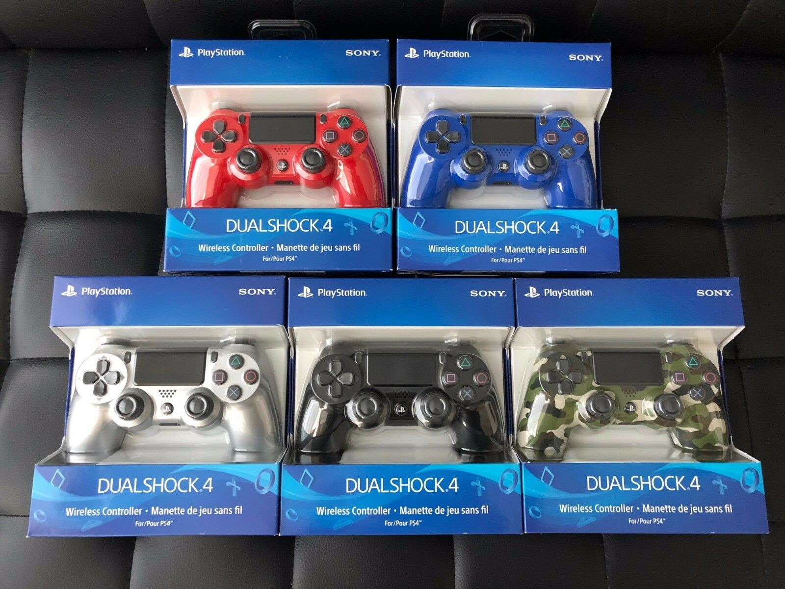 Latest Sony Playstation 4 Ps4 Dualshock Wireless Controller Silver Ds4 New Dual Shock Light Blue Model Red 1 Of 5free Shipping See More