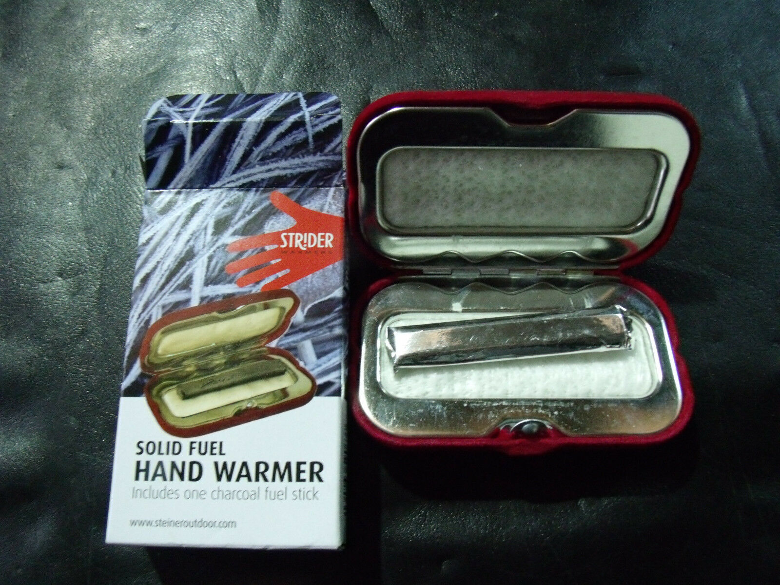 2 x Strider Solid Fuel Charcoal Pocket Hand Warmer//Heater