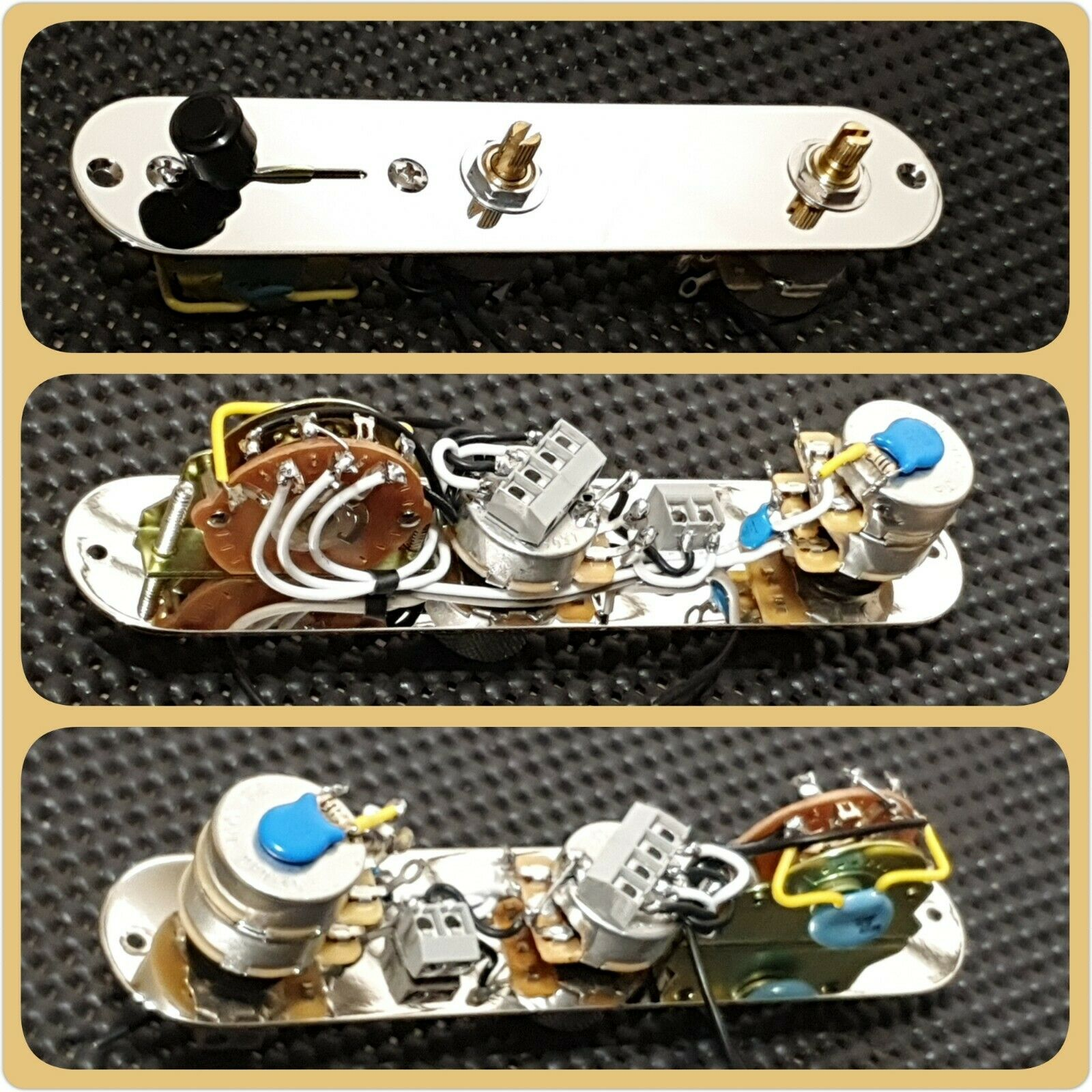 Fender Telecaster Tele 5 Way Tbx Control Plate Wiring Loom Harness American Stratocaster 1 Of 7only 4 Available