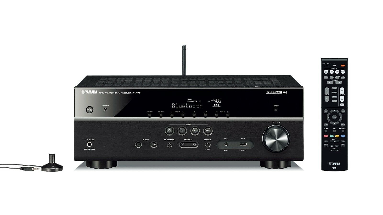 yamaha rx v481d dab 5 1 av receiver wlan hifi hdmi. Black Bedroom Furniture Sets. Home Design Ideas