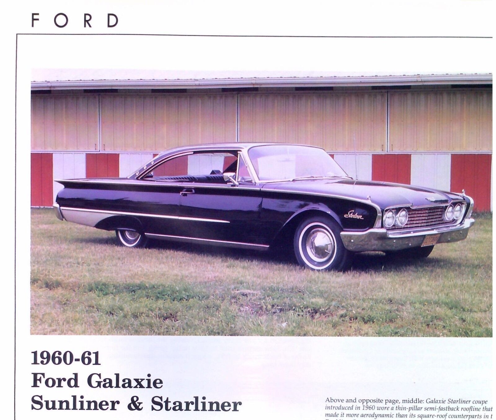 1960 1961 Ford Galaxie Sunliner Starliner Info Specs Production Wiring Diagram 1956 Fairlane Number 1 Of 4free Shipping